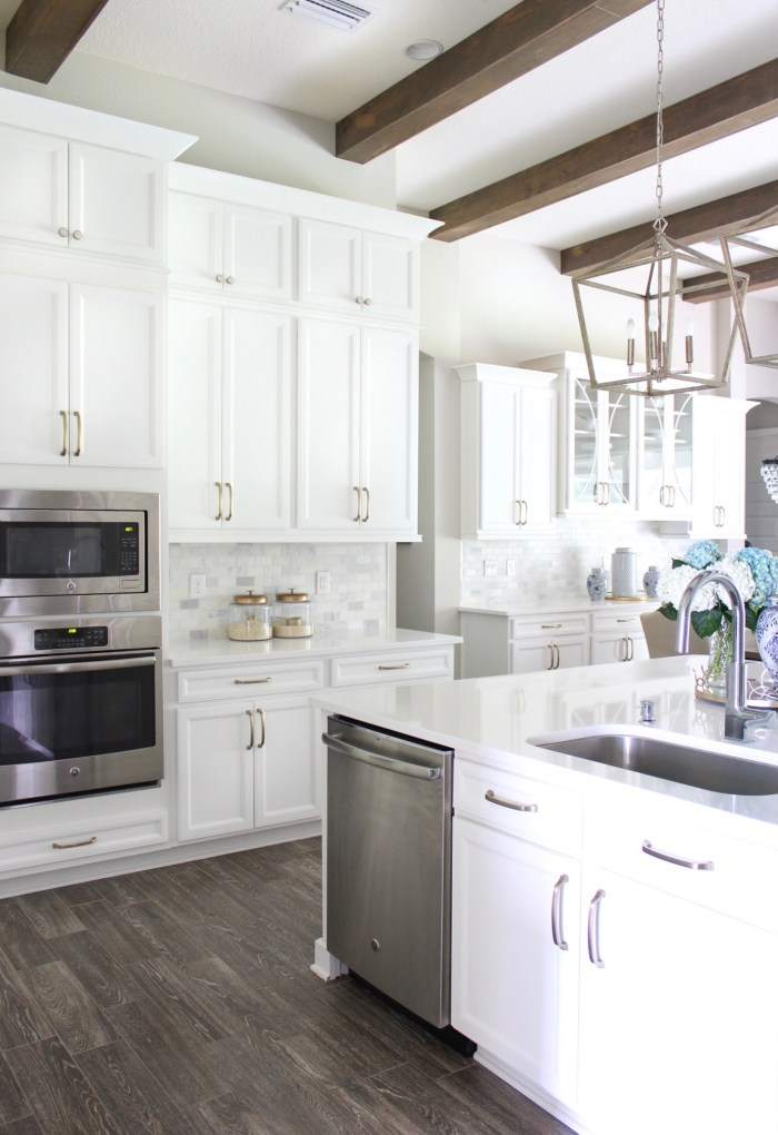 DIY Stacked Kitchen Cabinets - Frills and Drills