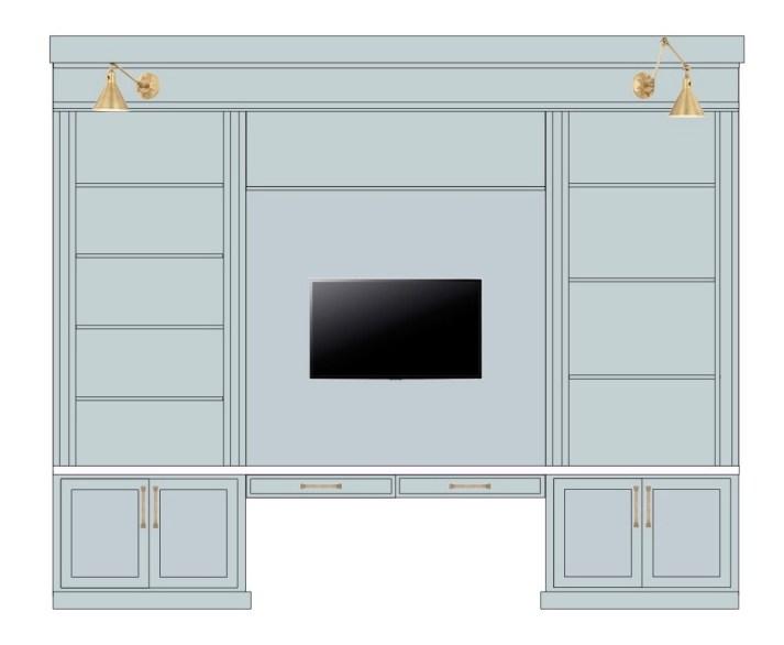 built-in unit sketch