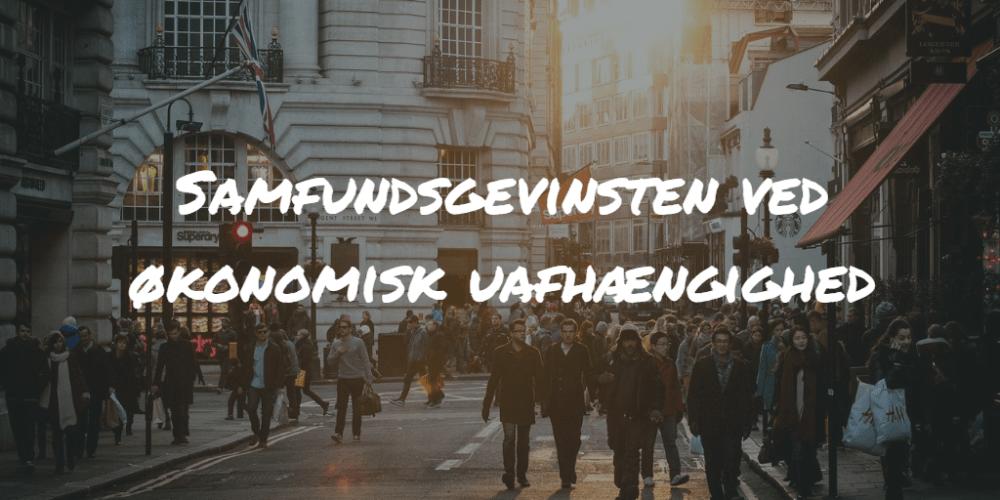 Samfundsgevinsten ved økonomisk uafhængighed Frinans