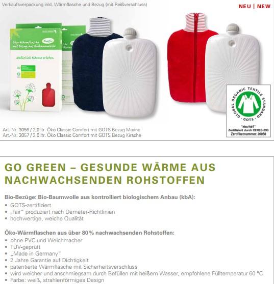 Bio-Bezüge-Wärmflasche