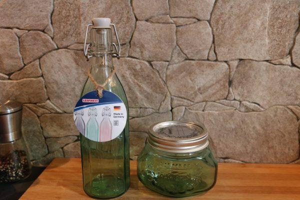 Einmachgläser-und-Flaschen-Leifheit-in-Jungle-Green
