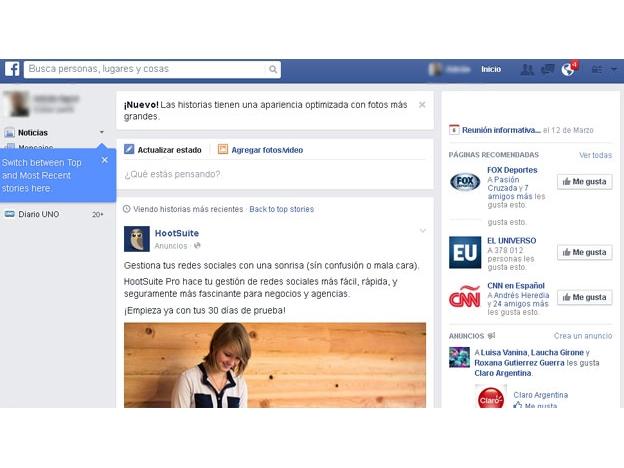 Importantes cambios en Facebook