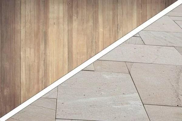 vloeren hout en steen
