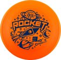 FE Rocket 3 disco per cane frisbee arancio fluo medium bite disc dog performance