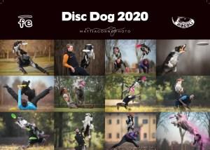 foto del calendario disc dog 2020 di mattia gorno e frisbeescape