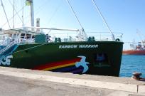 Die Rainbow Warrior im Hafen von Las Palmas
