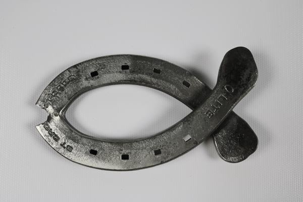 Handmade Blacksmith Fish Ornament Back