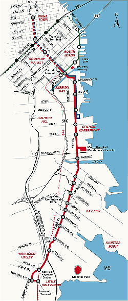 3rd street rail map