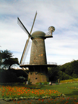 windmill in golden gate park, san francisco