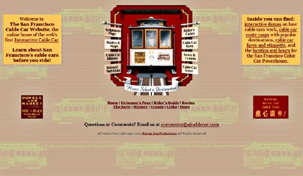 san francisco cable car website