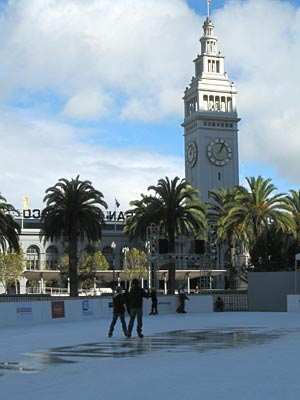 ice rink at justin herman plaza