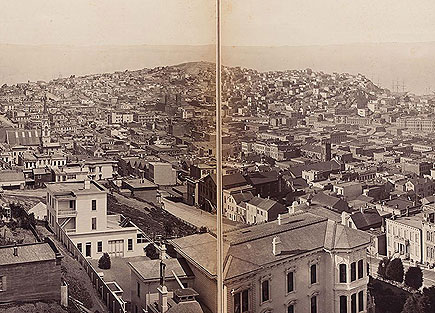 Muybridge, San Francisco panorama, detail, ca 1877-78