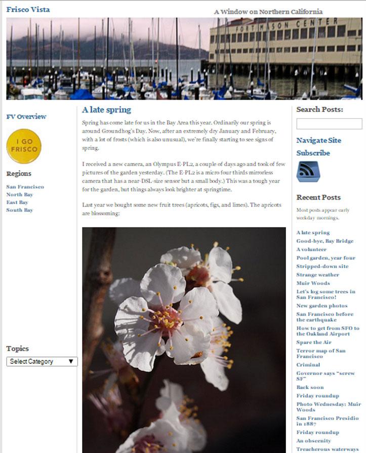 old frisco vista blog