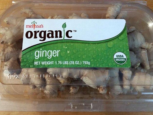 Organic ginger.
