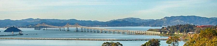 Richmond-San Rafael Bridge and Red Rock Island.