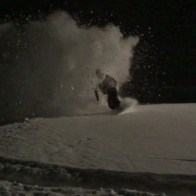 shredding powder in the dark #nightsession #champery #planachaux #switzerland #snowboarding #powder #slash #shred #darkness #light #night #pow #frisek #frisekteam @vvchiche @laurent5_4