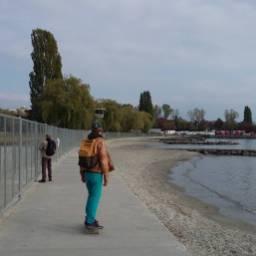 Vidy beach skating #frisek #skate #lausanne