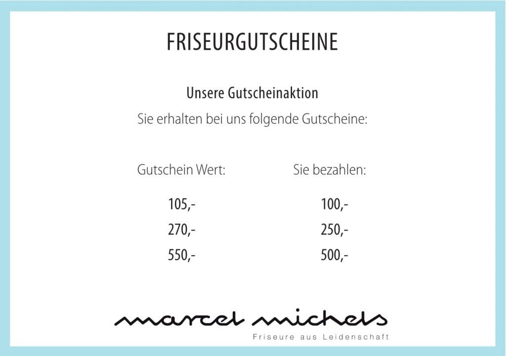 Friseur Bonn - Marcel Michels - Gutscheine