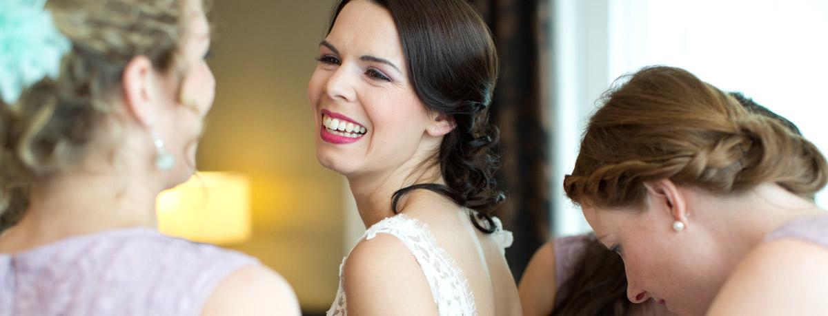 Eine Schone Brautfrisur Fur Die Heirat Stockfoto Bild Von Lockig