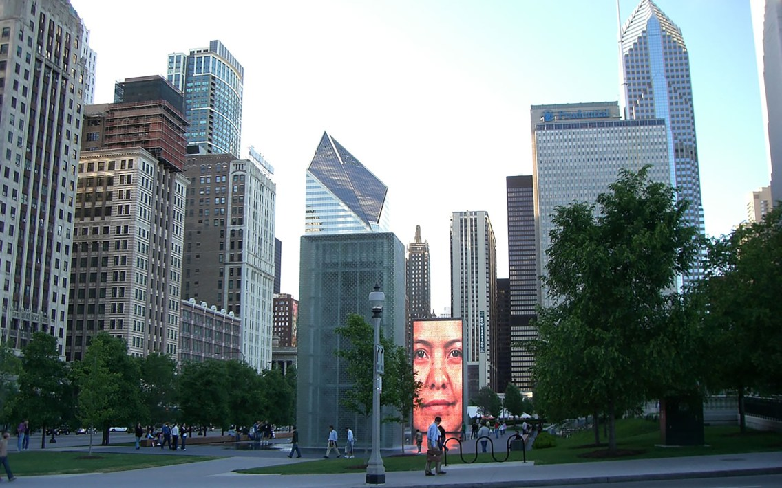 Millenium Park in Chicago, Illinois.
