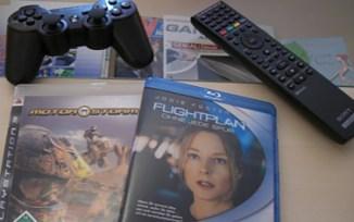 "SIXAXIS Wireless-Controller, Blu-ray Fernbedienung, ""Motorstorm"" + Bluy-ray ""Flightplan"""