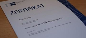 Zertifikat IHK Medien-Design
