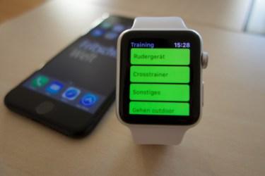 Sport mit der Apple Watch.