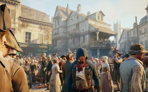Assassin's Creed Unity: Lebendiges Treiben in Paris