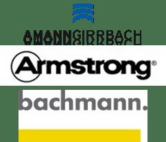 Logo Amann Girrbach, Armstrong, Bachmann