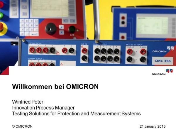 Winfried Peter - Einführung OMICRON electronics