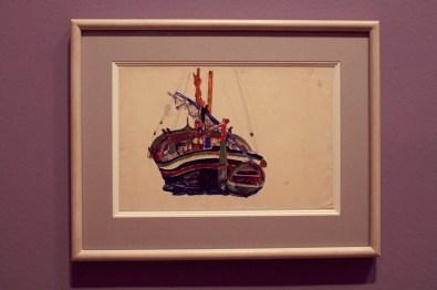 "Egon Schiele - ""Triestiner Fischerboot"" - 1912"