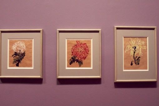 "Egon Schiele - ""Weiße Chrysantheme""; ""Rote Chrysantheme""; ""Gelbe Chrysantheme"" - 1910"