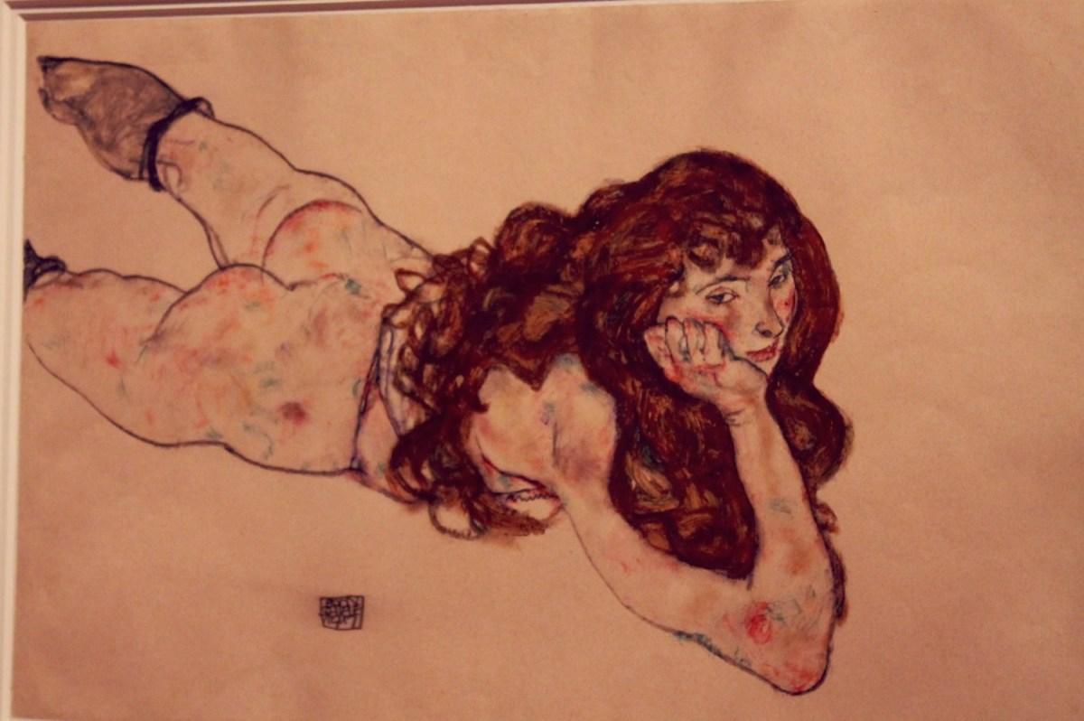 """Egon Schiele - """"Weiblicher Akt"""" - 1917"""
