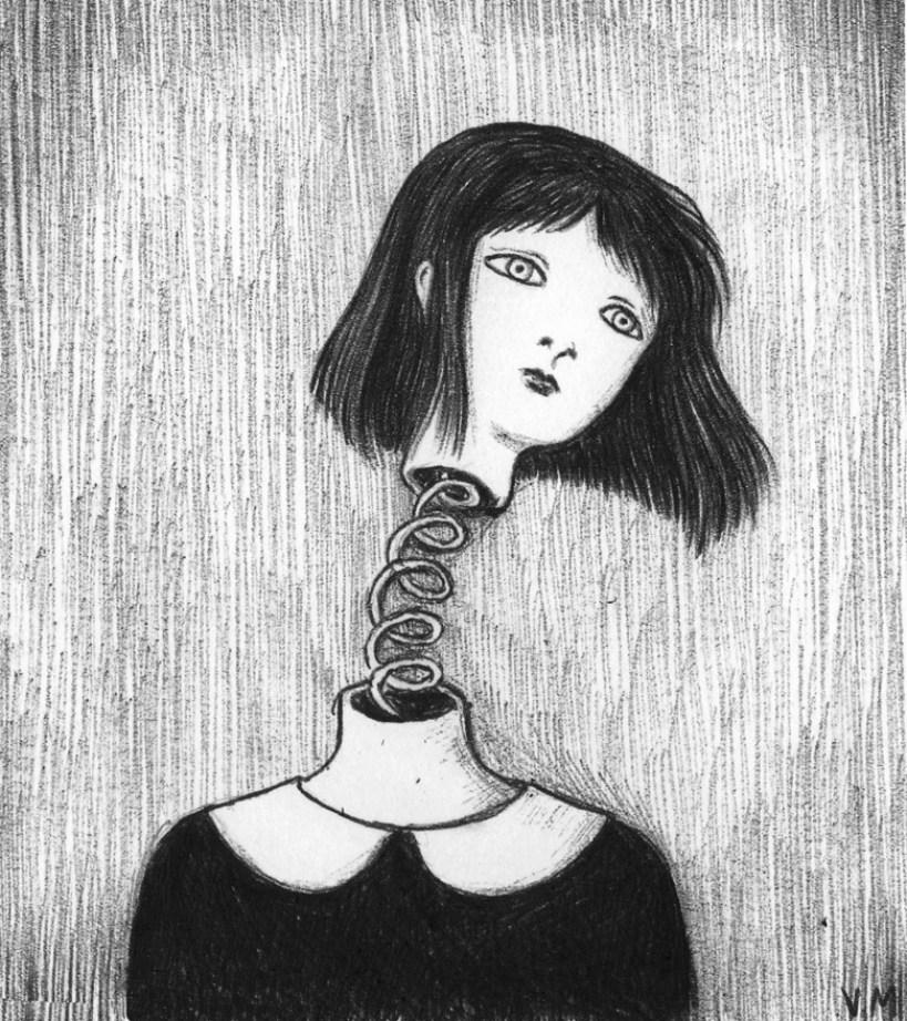 Testamolla – penna bic su carta, 2012 © Virginia Mori