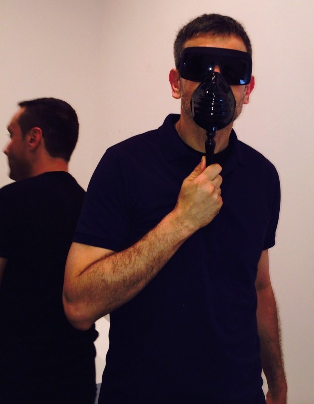Sergio Zambon e Sylvio Giardina con Bogue the mask