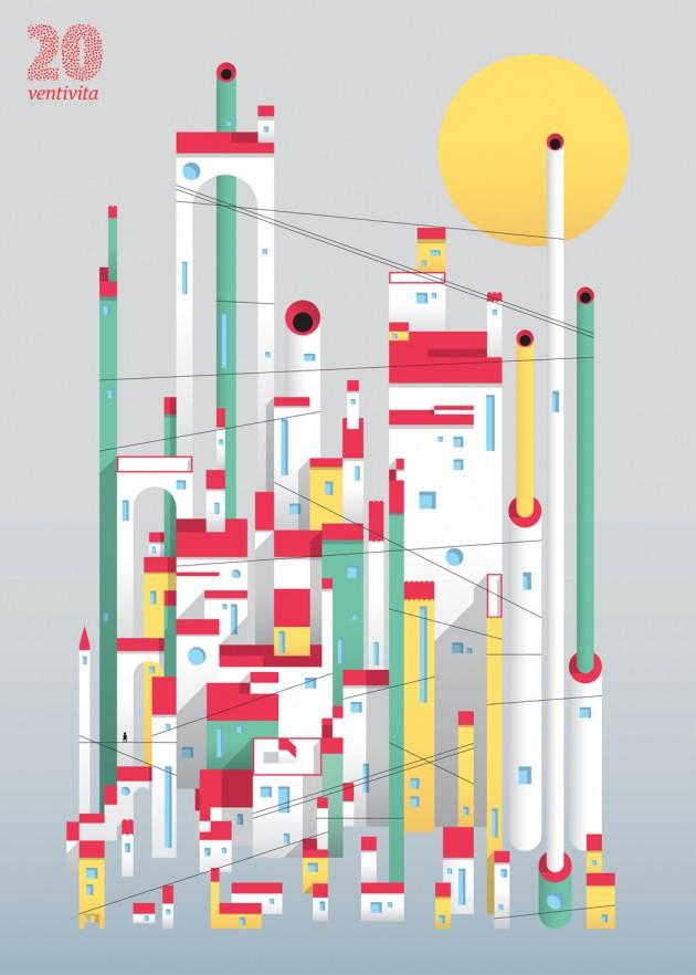 in anteprima per Frizzifrizzi l'ultimo manifesto VentiVita (luglio 2014), realizzato da Francesco Muzzi   courtesy Matteo Riva