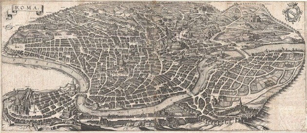 "Matthaus Merian, ""Roma"", (1642)"