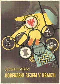 Gorenjski sejem v Kranju (1953) (fonte: Digitalna Knjižnica Slovenije)
