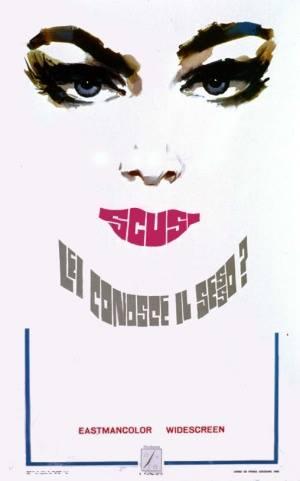 """""""Scusi lei conosce il sesso?"""" di Vittorio De Sisti, 1968 artwork: Sandro Symeoni (fonte: facebook.com/SandroSymeoni)"""