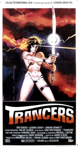 """Trancers"" di Sam Firstenberg, 1984 artwork: Sandro Symeoni (fonte: facebook.com/SandroSymeoni)"