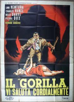 """""""Il gorilla vi saluta cordialmente"""" di Bernard Borderie, 1958 artwork: Sandro Symeoni (fonte: facebook.com/SandroSymeoni)"""