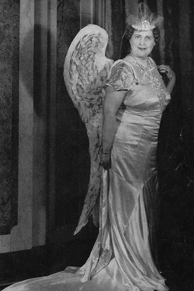 Florence Foster Jenkins in her Angel of Inspiration costume.