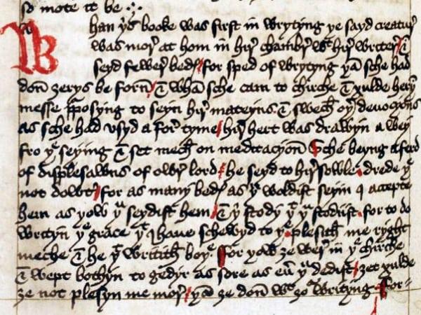 Margery Kempe manuscript