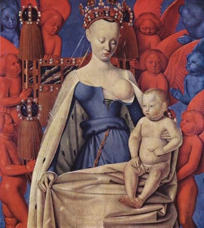 Jean Fouquet, Madonna Surrounded by Seraphim and Cherubim, 1452 (Royal Museum of Fine Arts Antwerp).