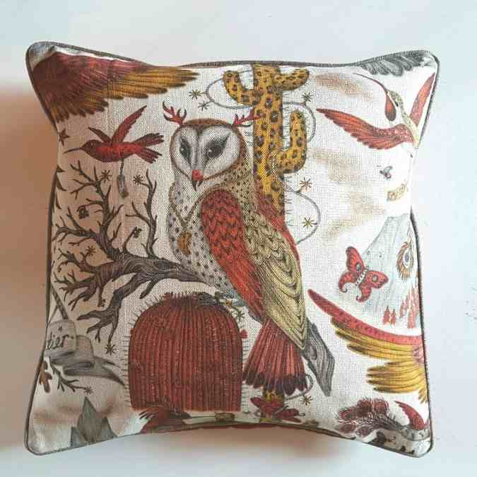 .Designer Kissen Frontier Emma Shipley 50 x 50 Eule1