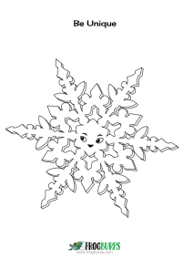 Color the Fancy Snowflake