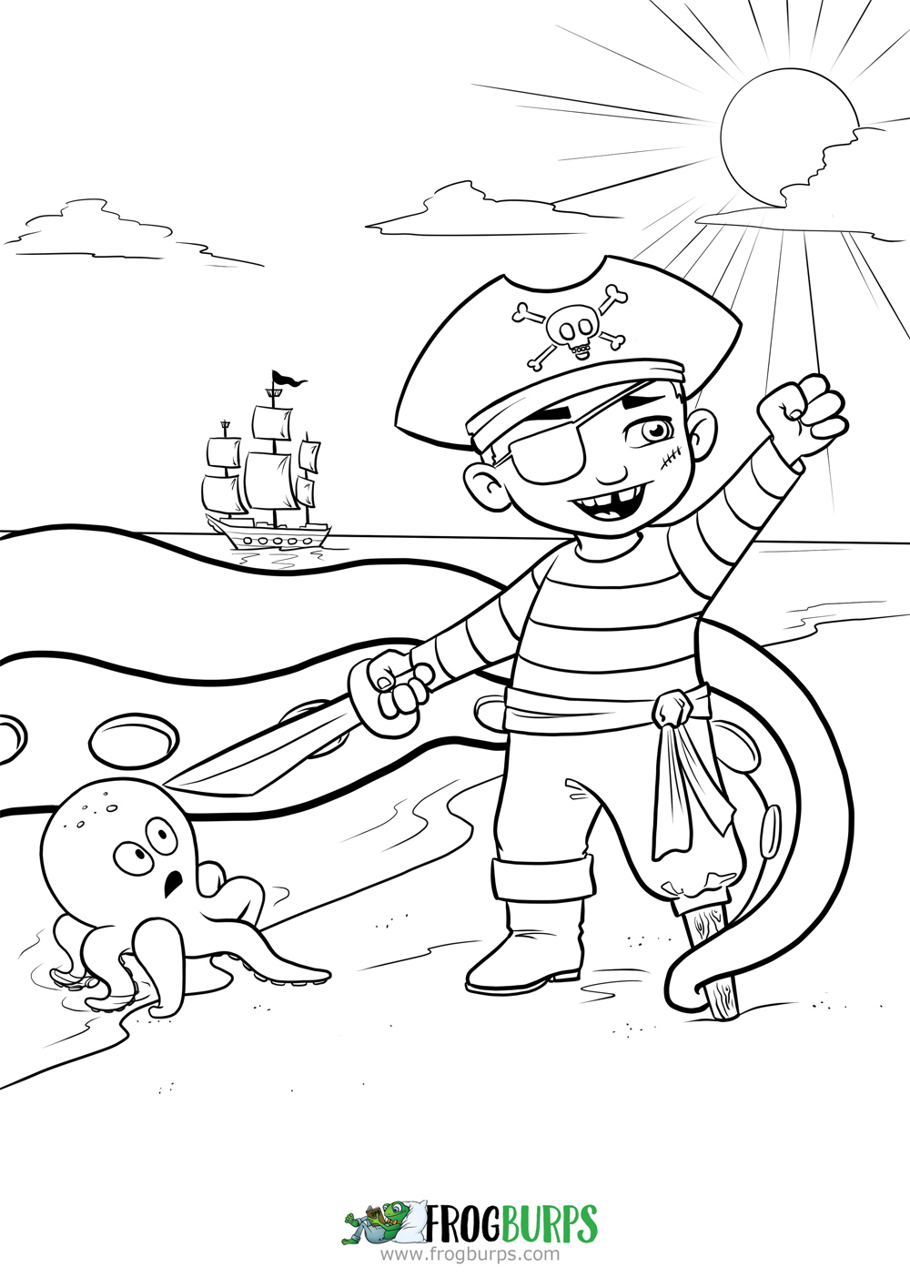 Talk Like a Pirate Day 2015 | Coloring Page
