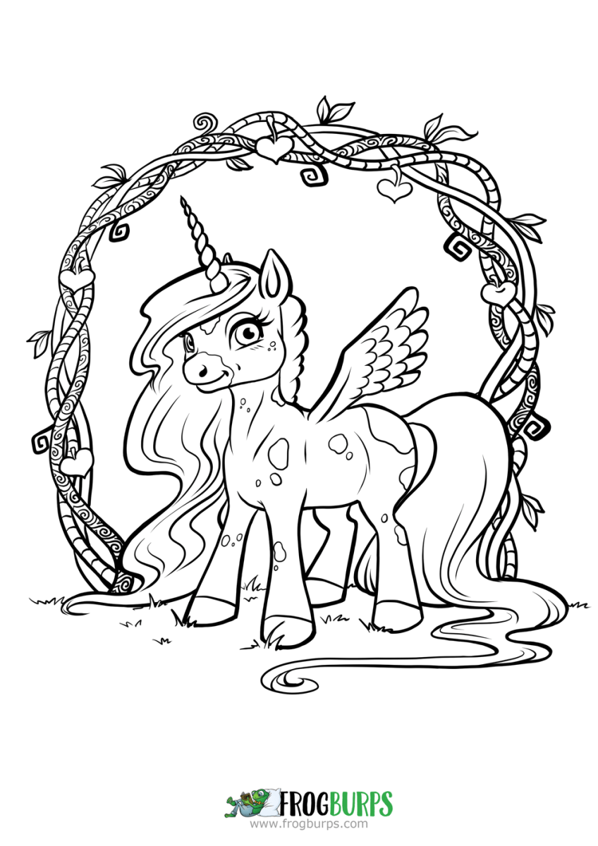 cute unicorn coloring page frogburps