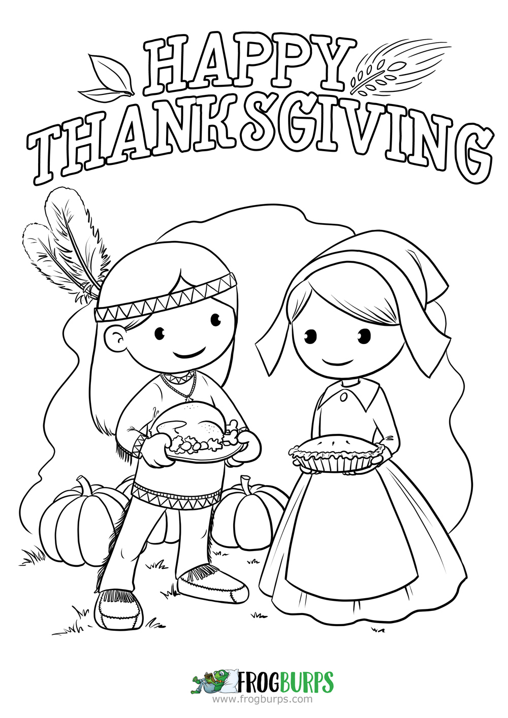 Happy Thanksgiving 2015 | Coloring Page