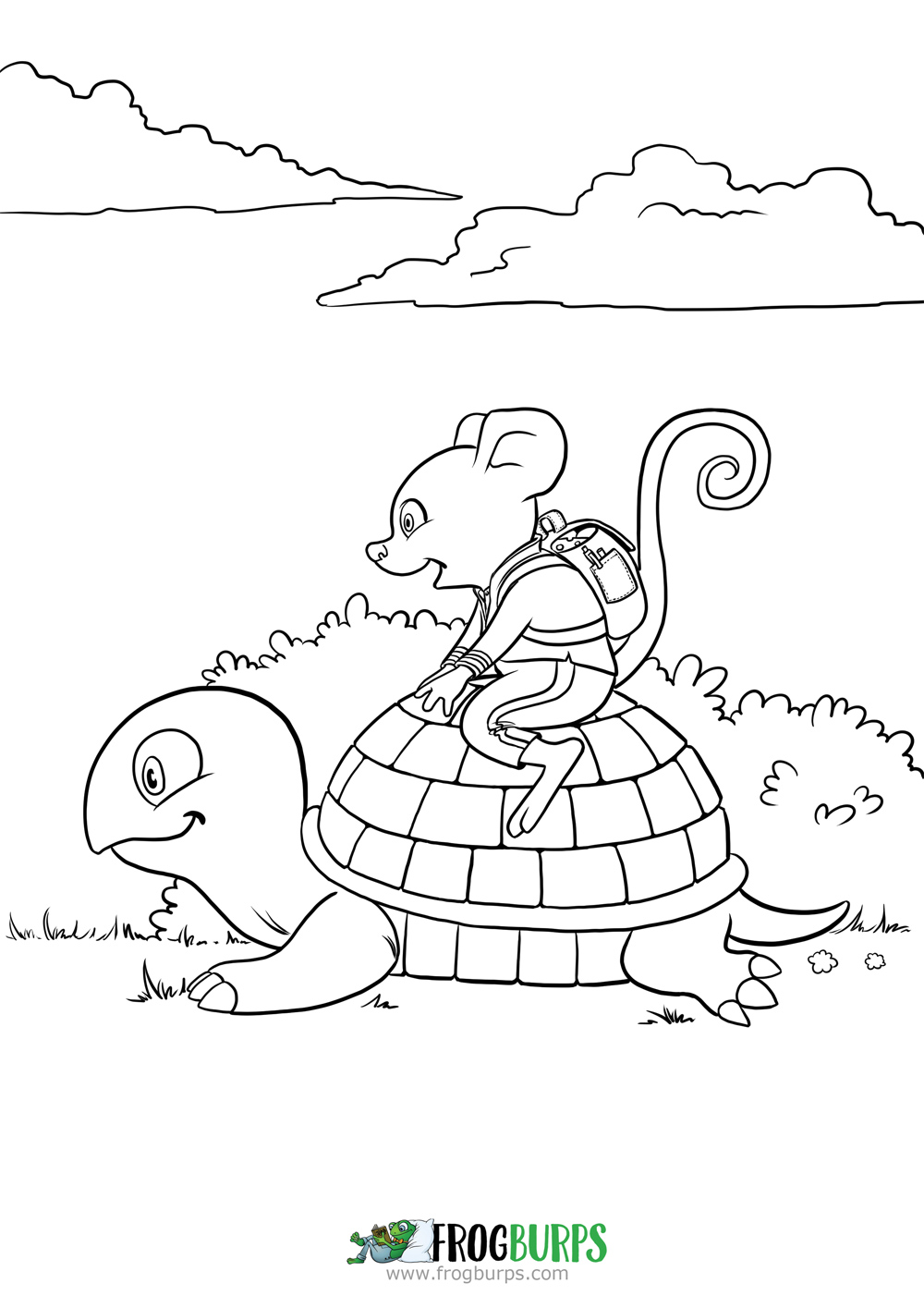 Slow Adventure | Coloring Page